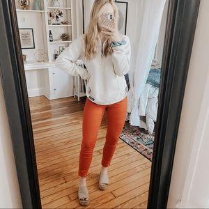 H&M Candle Apple Red Skinny Jeans